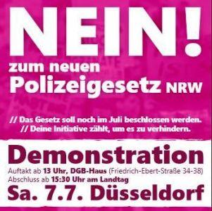 Nein! Zum neuen Polizeigesetz in NRW