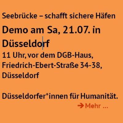 Seebrücke - Demo *Sa, 21.7.*