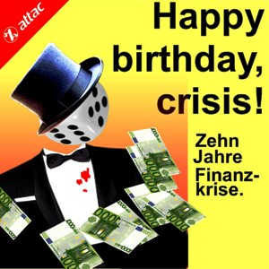 Happy birthday, crisis! *So, 16. Sep*