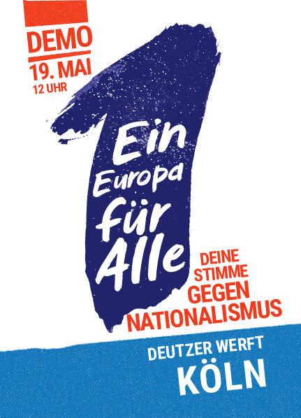 Europa-Demonstration in Köln *19.5.*