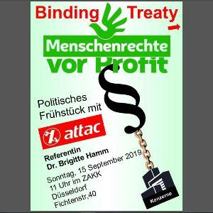 Politisches Frühstück: Unternehmen und Menschenrechte *So, 15. Sep*