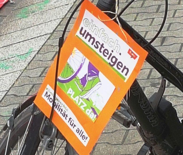 Pop-up Radweg auf der Oststraße
